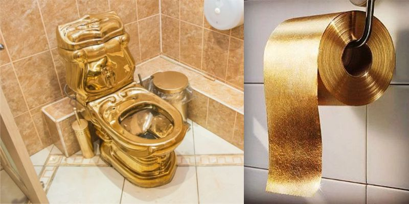Superb Golden Toilet Bowl Lux Wc Inzonedesignstudio Interior Chair Design Inzonedesignstudiocom